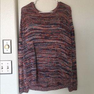 Gap cotton multi colored knit sweater